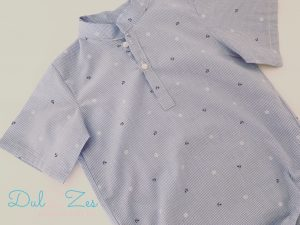 Dulzzes Camisa body anclas pique ropa infantil hecho a mano