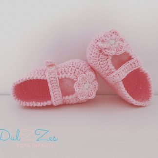 Dulzzes Merceditas ganchillo rosa ropa infantil hecho a mano
